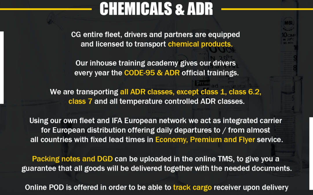 Chemicals and ADR
